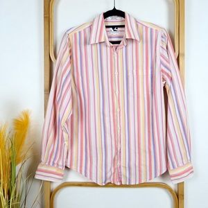Rockies top size M women's striped western pink